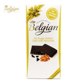 Belgian No Sugar Added Dark Chocolate with Almond 100G