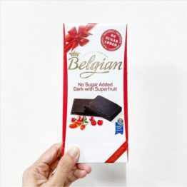 Belgian No Sugar Added Dark Chocolate with Superfruit 100G