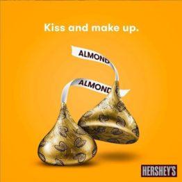 Hersheys Kisses Almonds Imported 283G