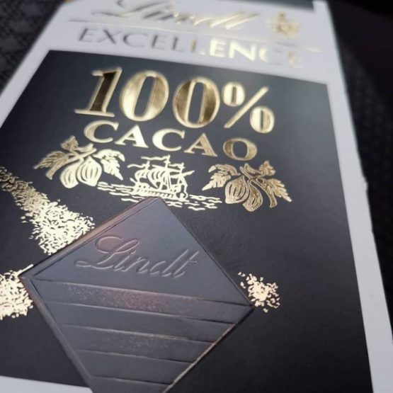 Lindt Excellence 100% Cocoa Dark Bar 50G