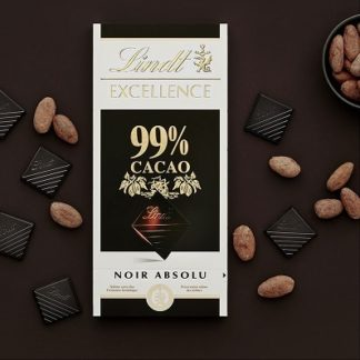 Lindt Excellence 99% Cocoa Dark Bar 100 G