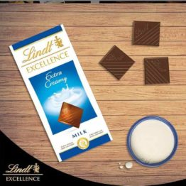 Lindt Excellence Milk Chocolate Extra Creamy 100G
