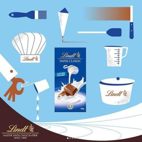 Lindt Swiss Classic Milk Chocolate Bar 100G