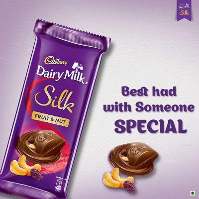 Cadbury Dairy Milk Silk Fruit And Nut Bar 55G