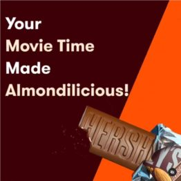 Hersheys Whole Almonds Bar 100G