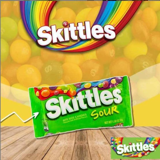 Skittles Sours Candy 45G (Pack of 2)