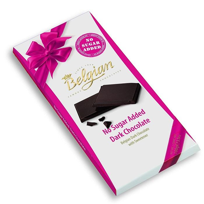 Belgian No Sugar Added Dark Chocolate Bar 100G