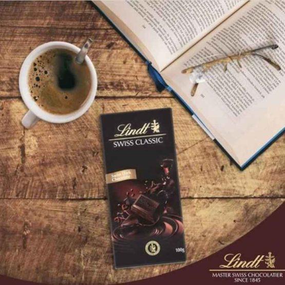 Lindt Swiss Classic Dark Chocolate Bar 100G