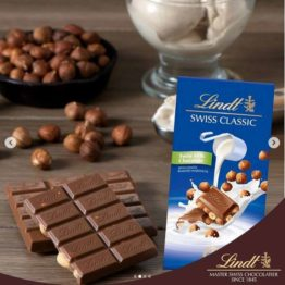 Lindt Swiss Milk Chocolate with Hazelnut Bar 100G