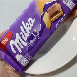 Milka Cream & Biscuit Milk Chocolate Bar 100G