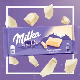 Milka White Chocolate Bar 100G
