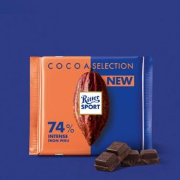 Ritter Sport Cocoa Selection 74% Intensity with Cocoa Mass 100G