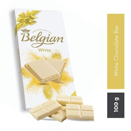 Belgian White Chocolate Bar 100G