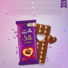 Dairy Milk Silk Heart Pop Chocolate Bar 150G