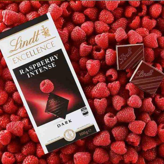 Lindt Excellence Raspberry Intense Dark Chocolate 100G