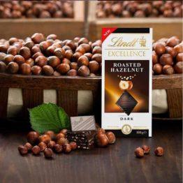 Lindt Excellence Roasted Hazelnut Dark Chocolate Bar 100G