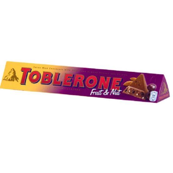 Toblerone Swiss Fruit & Nut Milk Chocolate 100G