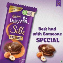 Cadbury Dairy Milk Silk Hazelnut Chocolate Bar 143G