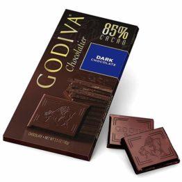 Godiva Chocolatier 85% Cacao Dark Chocolate bar 100G
